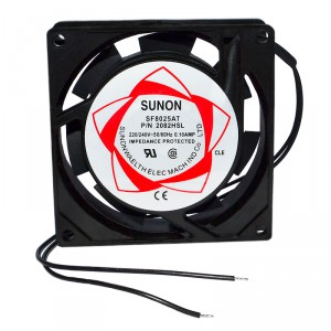 Вентилятор SUNON SF8025AT P/N 2082HSL 80 x 80 x 25 mm, 220V, 0.10A