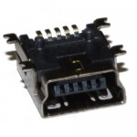 Гнездо mini USB 5pin USB-05-FS-90 SMD (длина = 9,5мм)